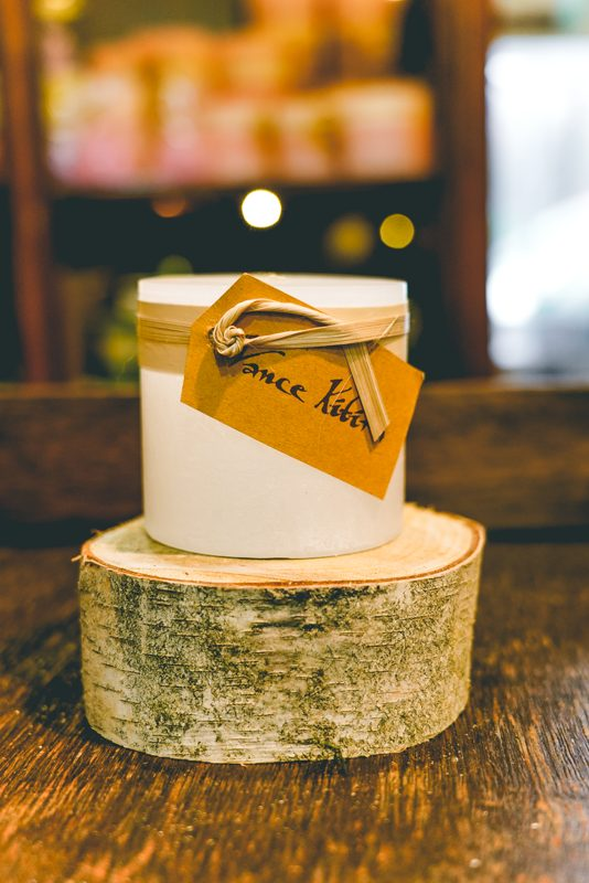 3x3 timber candle