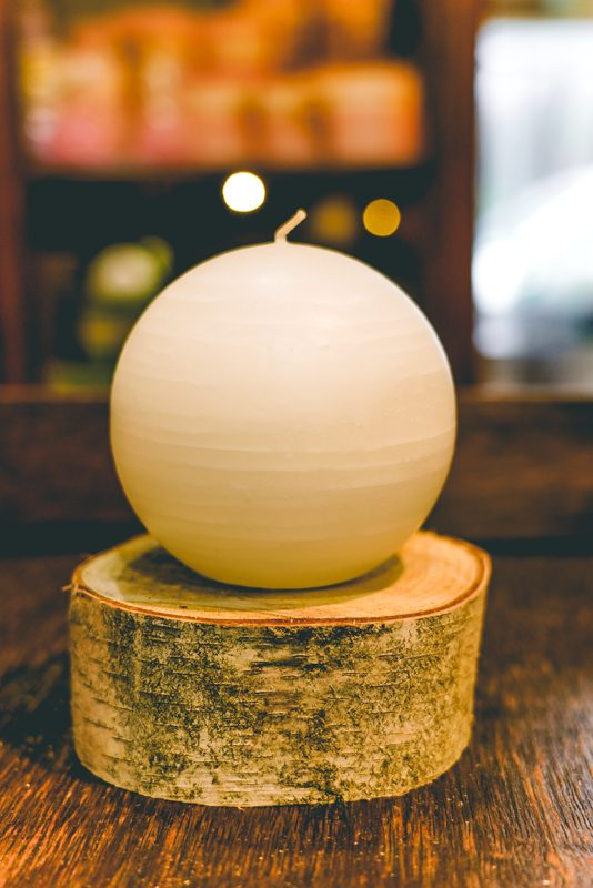 Jupiter sphere candle-light-yellow