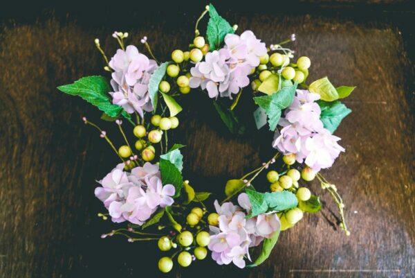 Pink-hydrangea-wreath-01