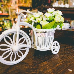 Small bike with flowers-001