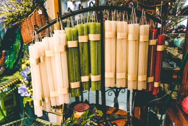 Timber taper bundle candles