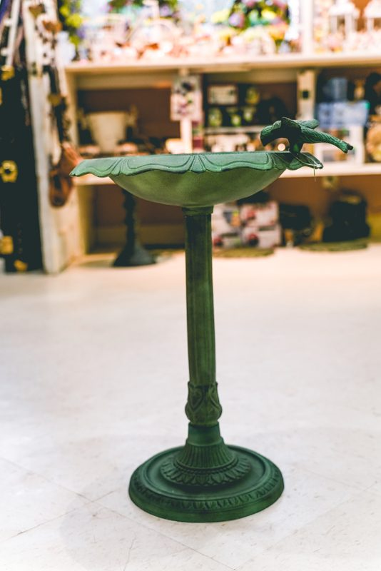 Green Bird Bath